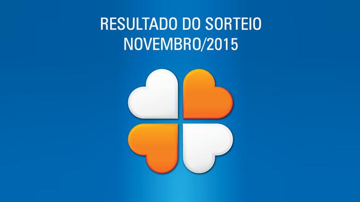Resultado do Sorteio realizado em Novembro/2015