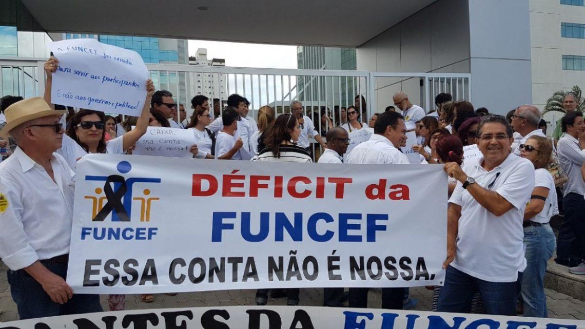 Manifestação contra pagamento do déficit da Funcef