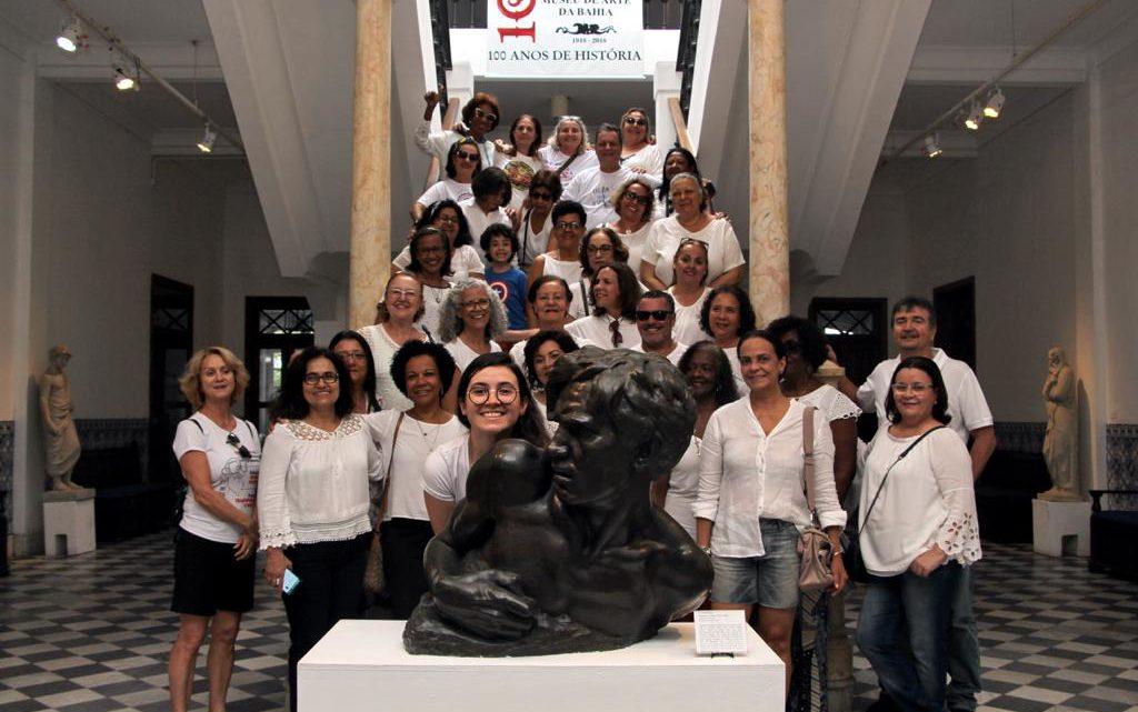"""Primeira visita do projeto """"AEA Vai aos Museus"""" foi um sucesso"""