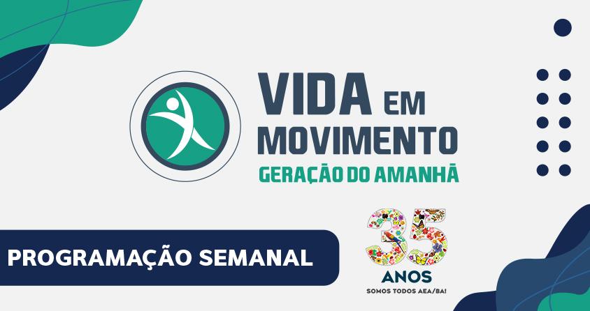 Confira a programação do projeto Vida em Movimento