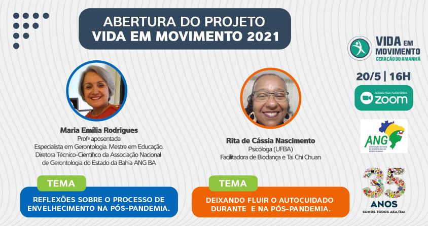 AEA/BA realiza abertura do projeto 'Vida em Movimento' 2021